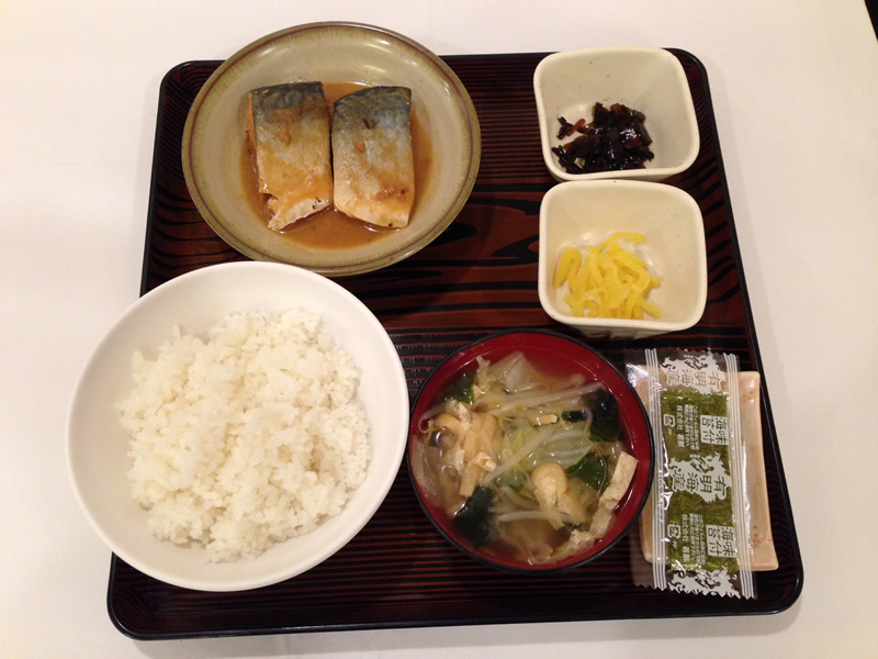 さば味噌煮定食の写真